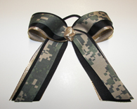 Camouflage Cheer Bows
