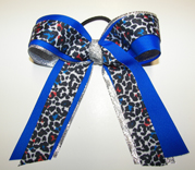 Leopard Cheer Bows