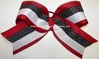 Red Black White Big Cheer Bow
