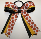 Basketball Black Ribbon Ponytail Holder Hair Bow