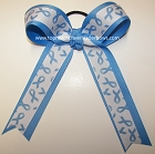 Autism Awareness Blue Ponytail Holder Bow