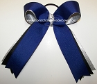 Royal Blue Black Silver Ponytail Holder