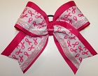Breast Cancer Awareness Pink Big Cheer Bow