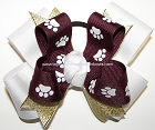 MSU Bulldogs Inspired Pigtail Hair Bow