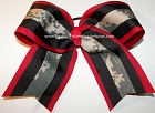 Digi Camo Red Black Big Cheer Bow