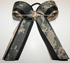 Camouflage Digi Green Gold Ponytail Bow