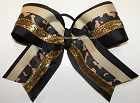 Camouflage Green Gold Big Cheer Bow