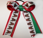 Christmas Rudolph Reindeer Ponytail Bow