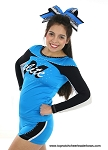 Glitzy Wild Leopard Blue Black Big Cheer Bow