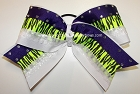Glitzy Neon Zebra Purple Big Cheer Bow