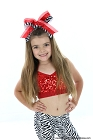 Glitzy Red Zebra Big Hair Bow