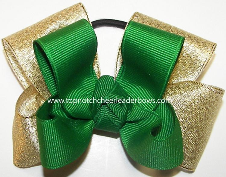 Bulk Green Gold Pigtail Bows Cheap Green Gold Pigtail