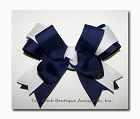 Solid 2 Color Ponytail Holder Bow - Tails