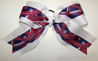 Patriotic Stars Stripes Big Cheer Bow
