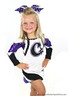 Purple Polka Dot Big Cheer Bow