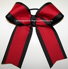 Red Black Cheer Ponytail Holder Bow
