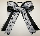 Soccer Team Color Ponytail Bow