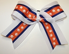 Clemson Tigers Inspired Big Cheer Bow