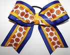 Basketball Blue Yellow Gold Cheer Hair Bow