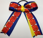 Basketball Sparkly Royal Yellow Ponytail Holder Bow