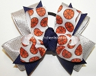 Basketball Team Spirit Pigtail Cheer Bow