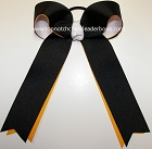 Black Yellow Gold White Ponytail Bow