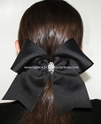 Solid Big Cheer Bow  Rhinestone Center