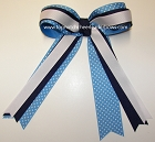 Polka Dots Ponytail Holder Hair Bow