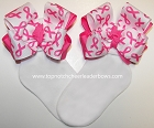 Breast Cancer Awareness Bow Socks