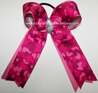 Camouflage Shocking Pink Silver Ponytail Bow