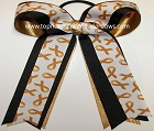 Childhood Cancer Yellow Gold Ponytail Bow