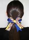 Football Royal Gold Ponytail Bow
