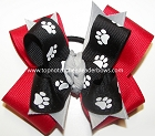 Georgia Bulldogs Spirit Pigtail Cheer Bow