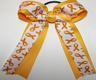 Childhood Cancer Awareness Ponytail Holder Bow
