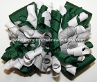 Korkers Forest Green Gray White Cheer Bow