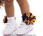 Girls Cheerleader Korker Bows Socks