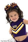 Korkers Purple Yellow Gold Cheer Hair Bow