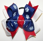 Louisiana Tech Bulldogs Inspired Pigtail Hair Bow