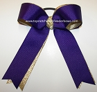 Purple Gold Metallic Ponytail Holder Bow