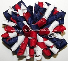Korkers Red White Blue Ponytail Holder Bow