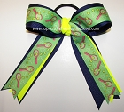 Tennis Ribbons Ponytail Holder Hair Bow