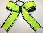 Zebra Neon Green Black Ponytail Bow
