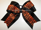 Tigers Orange Black Big Cheer Bow