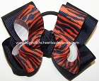 Tigers Orange Navy Pigtail Cheer Bow