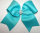 Turquoise 7 Inch Cheer Bow