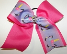 Sparkly Unicorn Ombre Purple Pink Cheer Bow