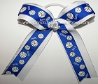 Volleyball Ribbons Royal Blue Ponytail Holder Hair Bow