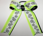 Volleyball Neon Lime Black Ponytail Bow