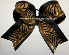 Tigers Black Gold Glitter Big Cheer Bow