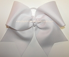 Solid White Grosgrain Big Cheer Bow